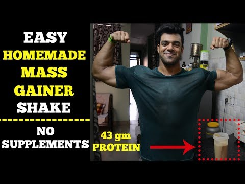Best HomeMade Mass Gainer Shake For Muscle Building   No Supplements