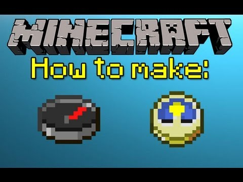 MINECRAFT HOW TO MAKE A COMPASS AND CLOCK