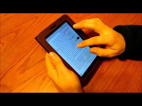Samsung Galaxy Tab 2 - Kindle reader back light brightness demo
