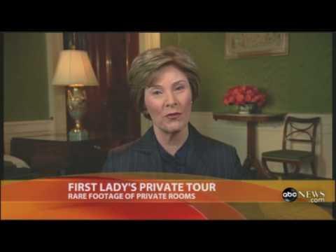 Laura Bush private White House tour