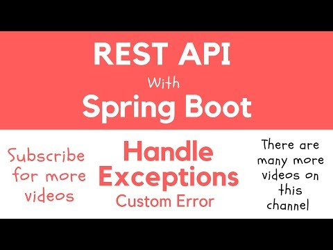REST API with Spring Boot - Return Custom Error Message