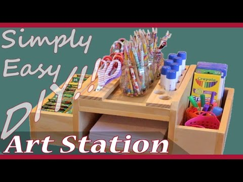 DIY Home School Art Supply Station