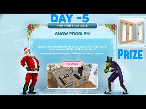 Simsfreeplay - Snow Problem Quest Day - 5 Christmas Holiday Update 2017