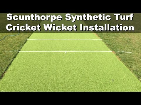 Scunthorpe Synthetic Turf Cricket Wicket Installation