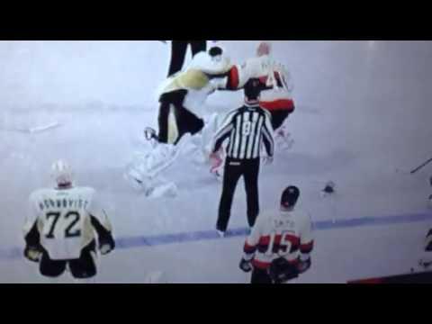NHL 16 Goalie Fight Fleury Vs Anderson