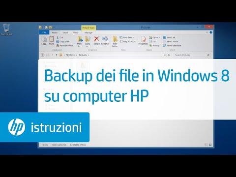 Backup dei file in Windows 8.1 su computer HP
