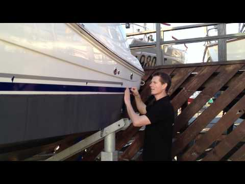 How to apply a boat stripe.