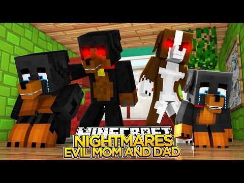 Minecraft Nightmares - EVIL MOM AND DAD - Little Baby Max Roleplay