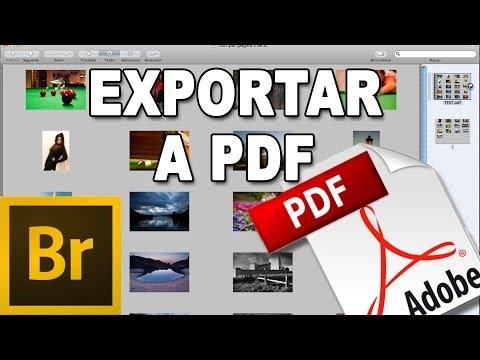 Exportar fotos a PDF - Tutorial Adobe Bridge en Español por @prismatutorial