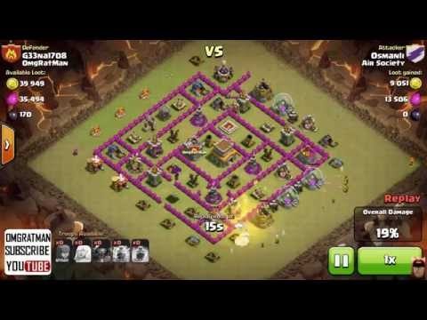 Clan Wars Epic Fail 5 PEKKA Destroyed in 16 Seconds By Clan Castle Troops