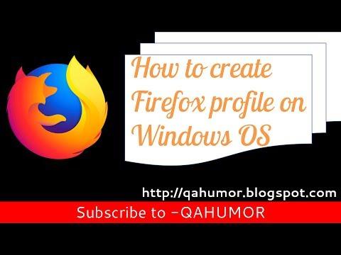 How to create Firefox profile on Windows OS