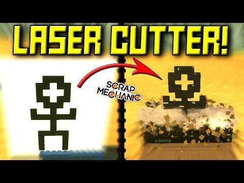 LASER CUTTER/PRINTER! [Spud Gun Update Ep 5] - Scrap Mechanic Gameplay