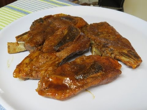 Pork Country Style Ribs Cooked in the Toaster Oven