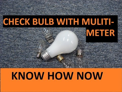 Test a Light Bulb With a Multimeter