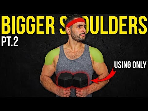 3 Dumbbell Exercises to Build MASSIVE Shoulders