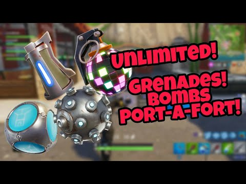 Fortnite Battle Royale Glitch (New) Unlimited Grenades and bombs PS4/Xbox one 2018