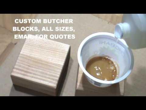 how do i make butcher block darker