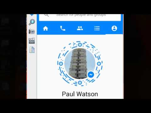 How to edit the user name in Facebook messenger android app