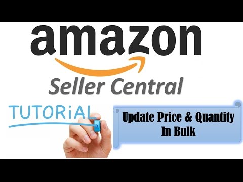 How to update price and quantity in bulk in amazon seller central
