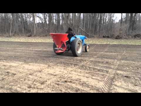 Seeding hay field- April 2015