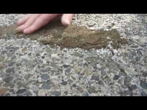 HOW TO: Apply & Match crack filler to exposed aggregate driveway