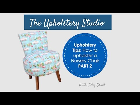 How to Upholster a Nursery Chair (Part 2) Adding Hessian