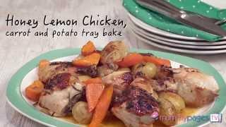 Honey Lemon Chicken Carrot And Potato Tray Bake