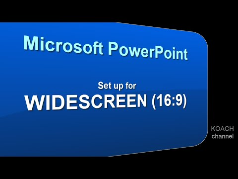 Ms PowerPoint Tips: Slides sized for WIDESCREEN (16:9) การตั้งขนาดสไลด์ 16:9