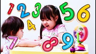 Learn to Count Numbers for  Kids Children Toddlers Counting 1 to 9 with Wooden Puzzle Fun