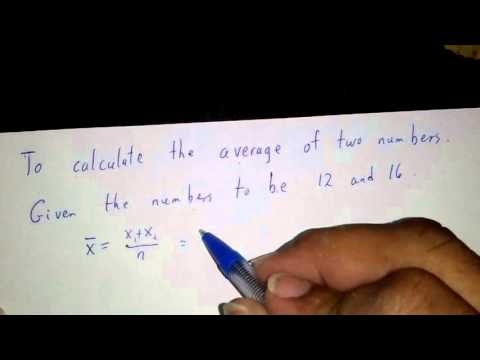 How to calculate the mean of two numbers