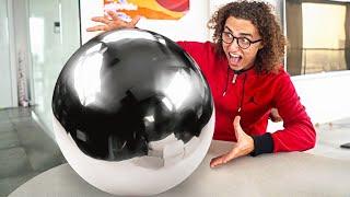 WORLDS BIGGEST MIRROR POLISHED FOIL BALL! - Japanese Foil Ball Challenge
