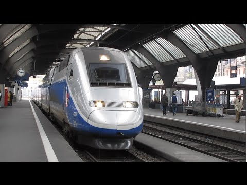 Inside High Speed TGV from Zurich to Paris in 3 min- top speed 317km/h