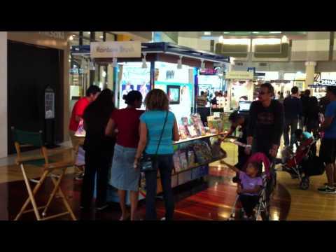 Super Busy RainbowBrush Kiosk at Sawgrass Mall, Florida.MOV