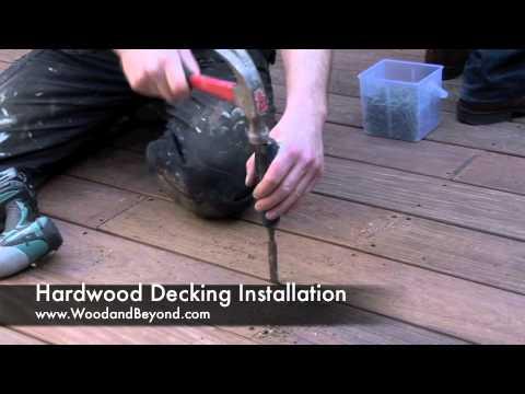 Hardwood Decking Installation