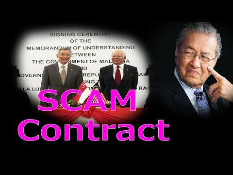 HSR High Speed Rail  contract a SCAM between Malaysia and Singapore