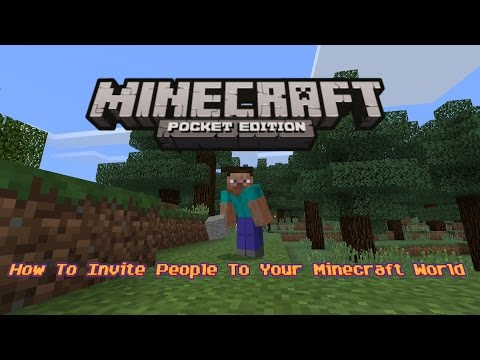 How To Invite People To Your Minecraft World - Minecraft PE 1.0.2