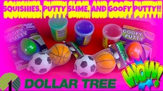 NEW SQUISHIES SLIME AND PUTTY AT DOLLAR TREE