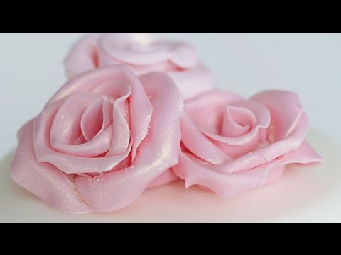 How to make fondant icing roses | Cake Creations