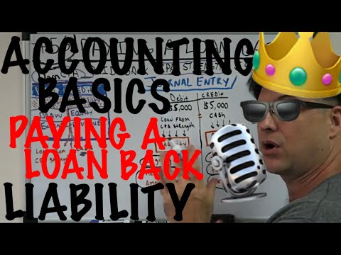 Accounting for Beginners #56 / Paying a Loan Back / Reducing Liabilities / Accounting 101