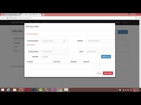 MVC 5 Master Details Using Jquery Ajax | Entity Framework