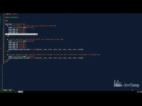 Build a Baseball Scoreboard Program in Ruby