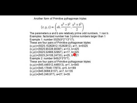 Primitive pythagorean triples with three prime factors (number a)