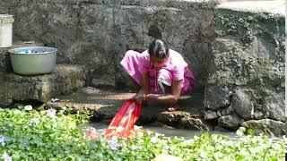 Kuttanad clothes wash