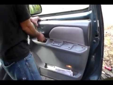 How to install a door handle on a Toyota Sienna 2001 front door. also 98-2003