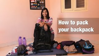 How to pack your backpack?