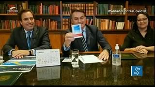 Liberação de cloroquina para tratamento de casos mais leves da covid-19 repercute entre senadores