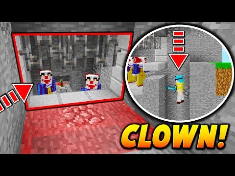 PENNYWISE CLOWN PISTON TRAP! - Minecraft SKYWARS TROLLING (NO WAY!)