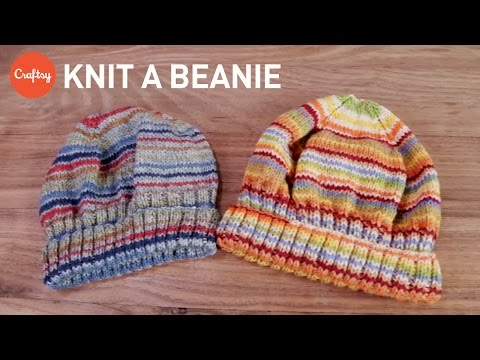 Knit Slouchy Beanie Tutorial: Key Steps | Craftsy Knitting Tutorial