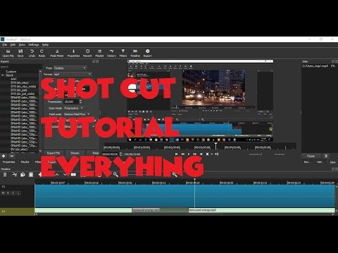 SHOTCUT TUTORIAL 1: ADDING PICTURES,MONTAGE AND OTHER VIDEO|