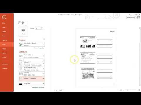 How to Print PowerPoint Slides in Handout form